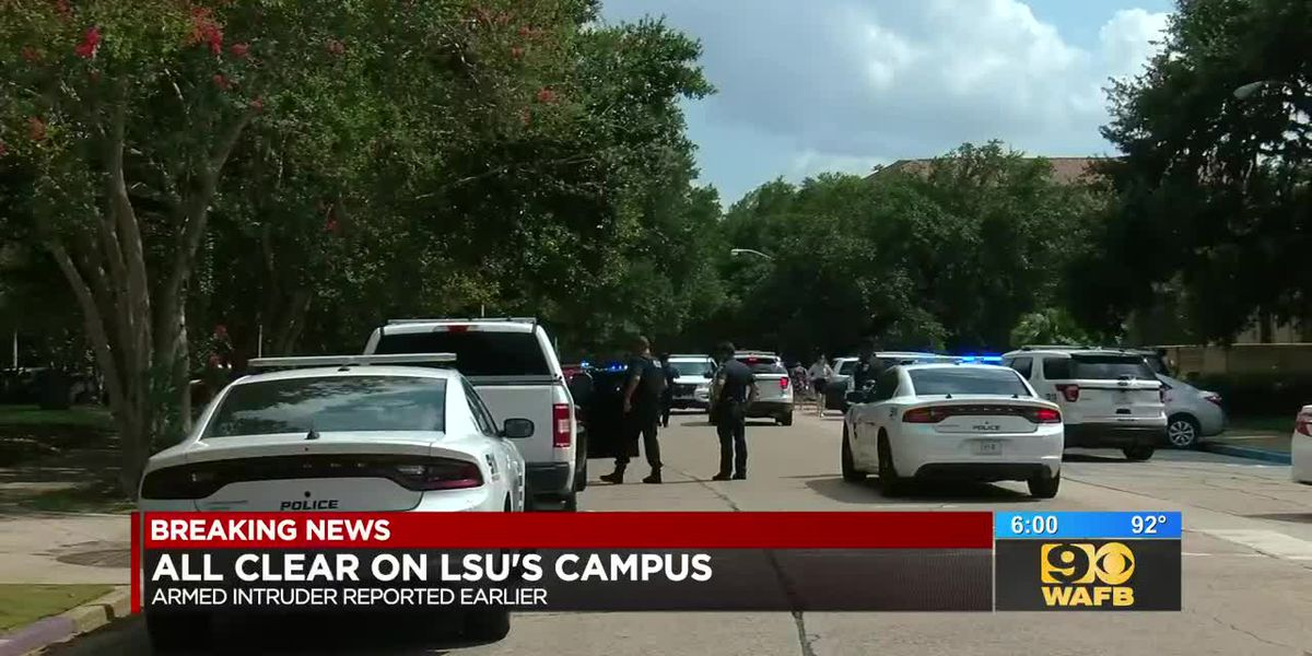 LSU officials give 'ALL CLEAR' after reports of an armed intruder on campus