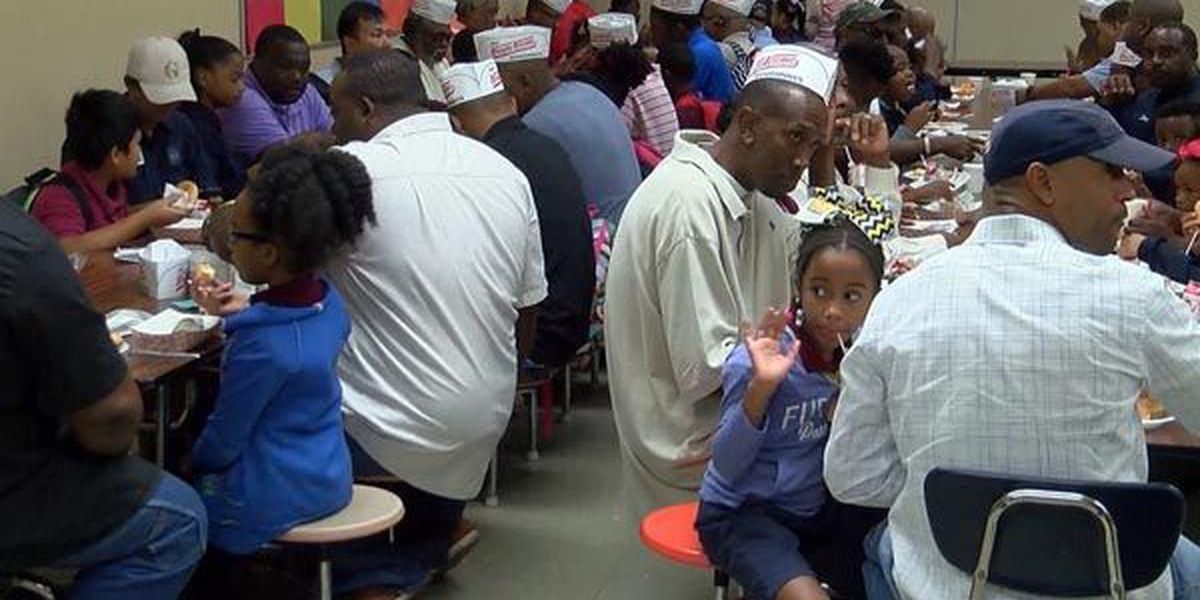 Forest Heights Academy serves up special Donuts with Dads day