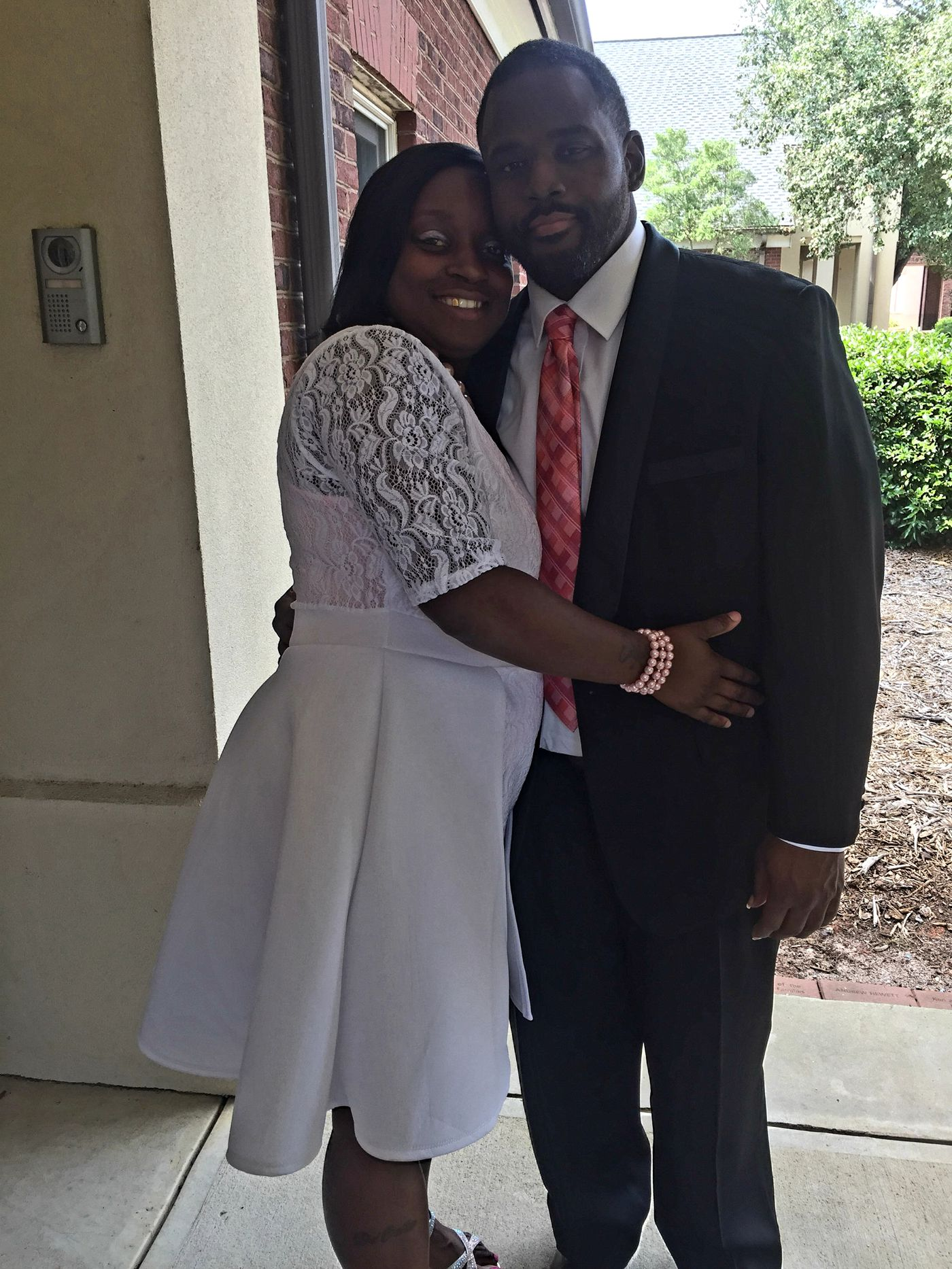 Alexis and her husband, Jheremi, at an event prior to the kidney transplant.