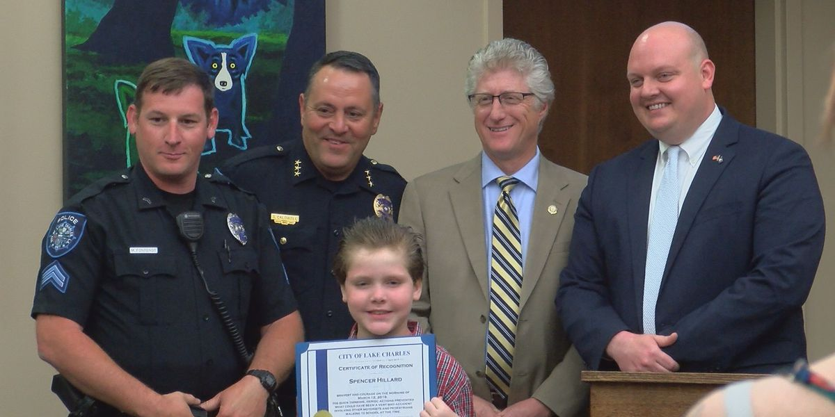 10-year-old Lake Charles boy honored by LCPD and city