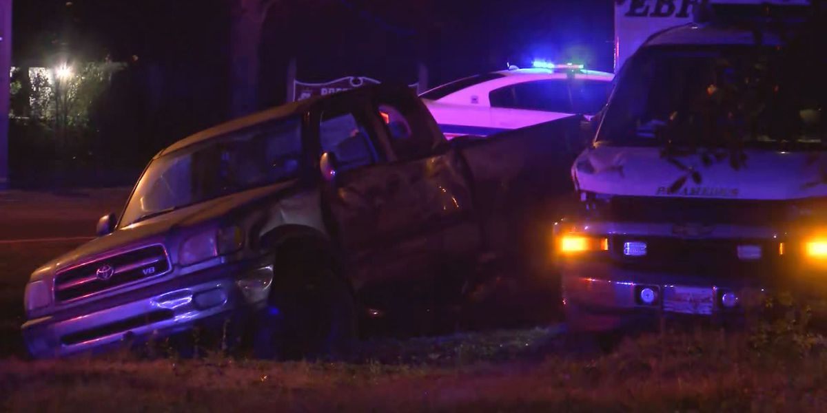 Ambulance involved in early Friday morning wreck; no injuries