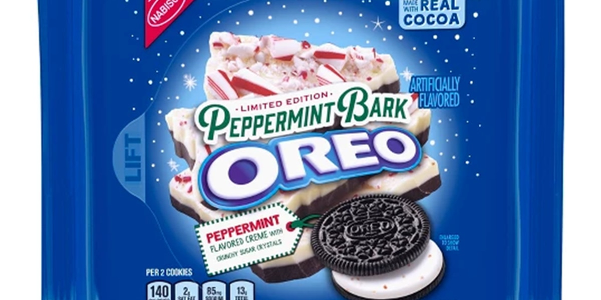 Oreo releasing Peppermint Bark cookies just in time for Christmas