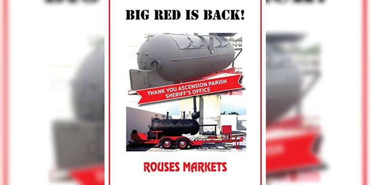 BBQ trailer stolen from Rouses in Donaldsonville recovered in Texas