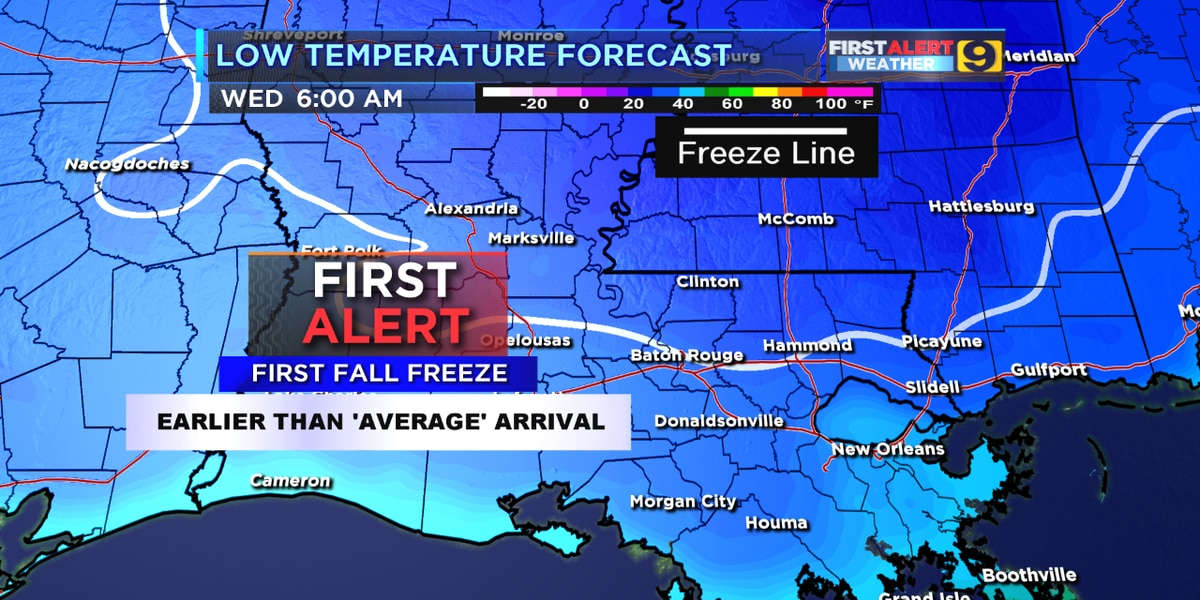 First light freezes of the season possibly to arrive Wednesday, Thursday