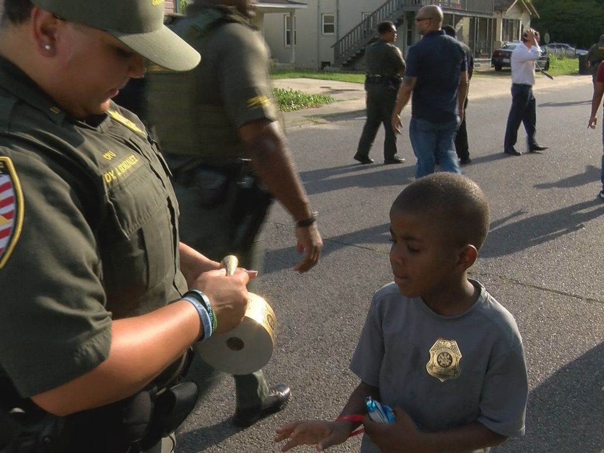Area law enforcement visit neighborhood to curb violence ahead of summer