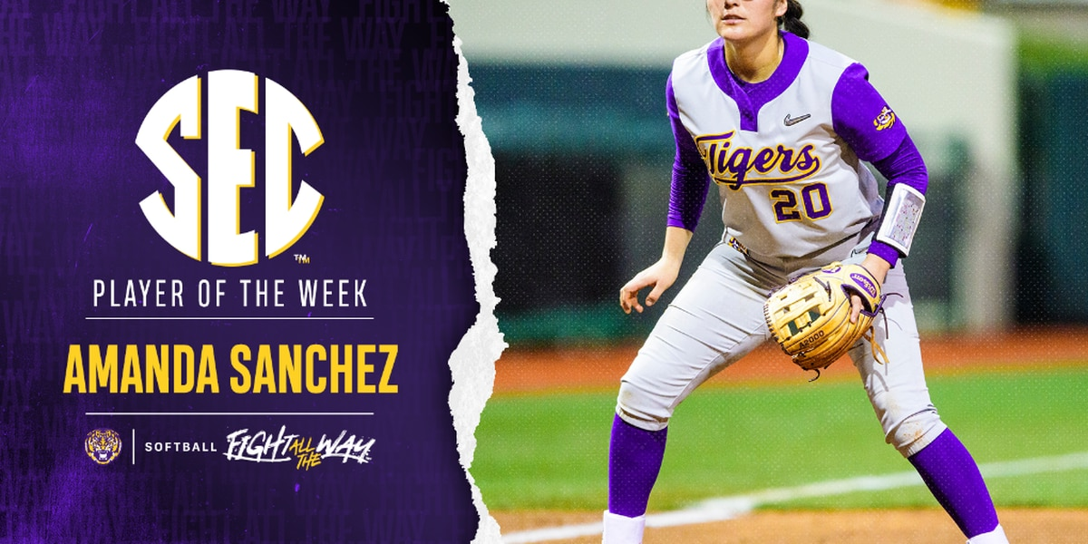 Amanda Sanchez named SEC Player of the Week