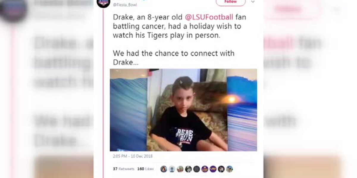 Drake had a holiday wish to see his Tigers play in person