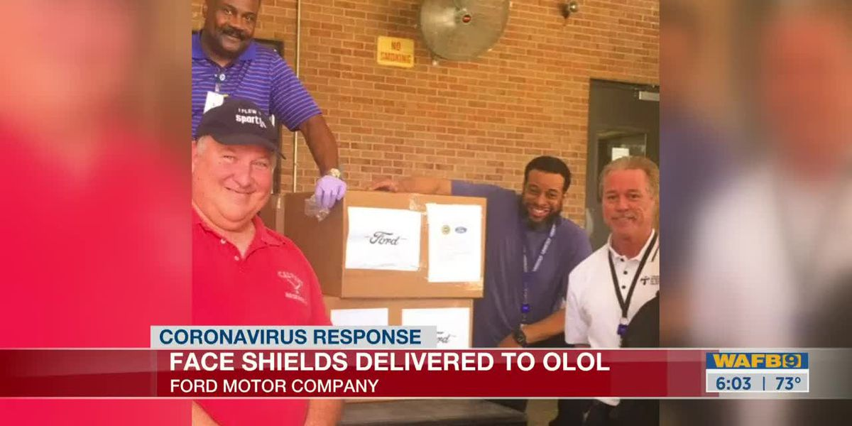 Ford donates 2,000 face shields to OLOL