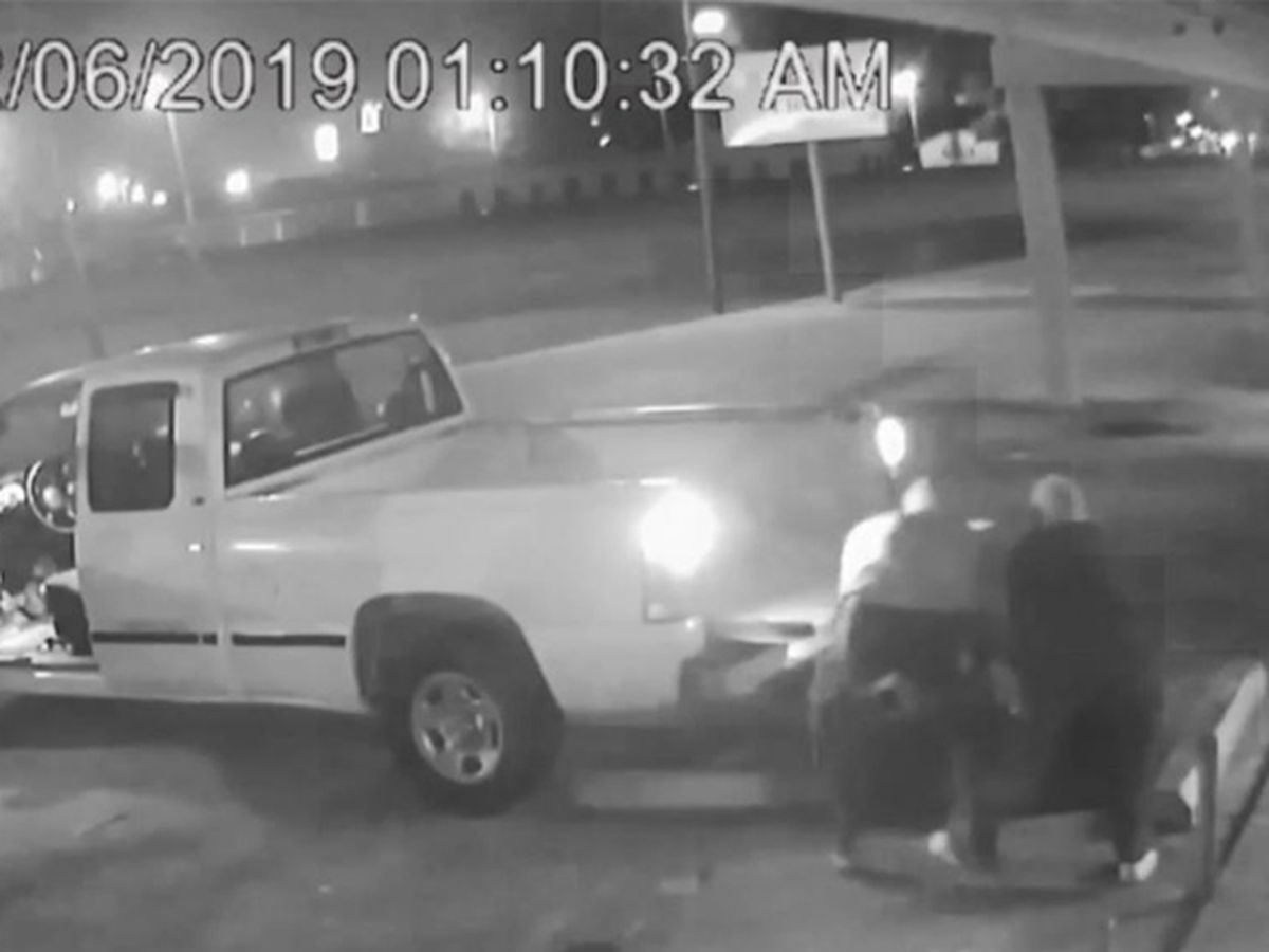 CAUGHT ON CAMERA: Men seen hauling off ATM in truck from Plaquemine store