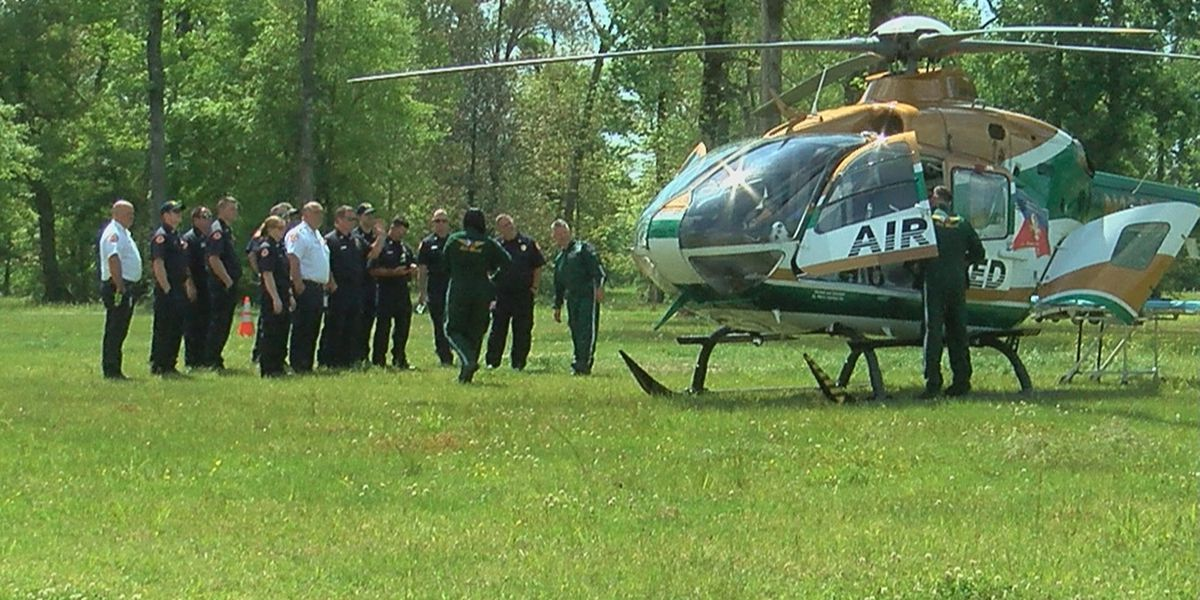 Air Med trains with St. George Fire on transportation safety
