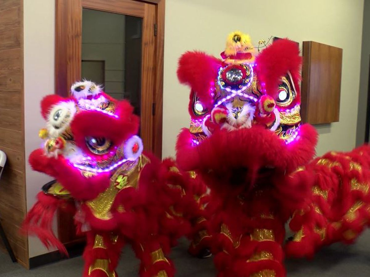 Lion dance entertains Baton Rouge students ahead of Chinese New Year