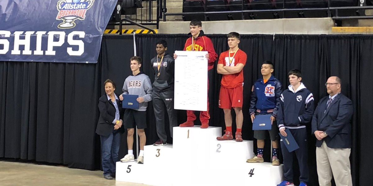 Several Baton Rouge-area wrestlers win state titles in their weight class