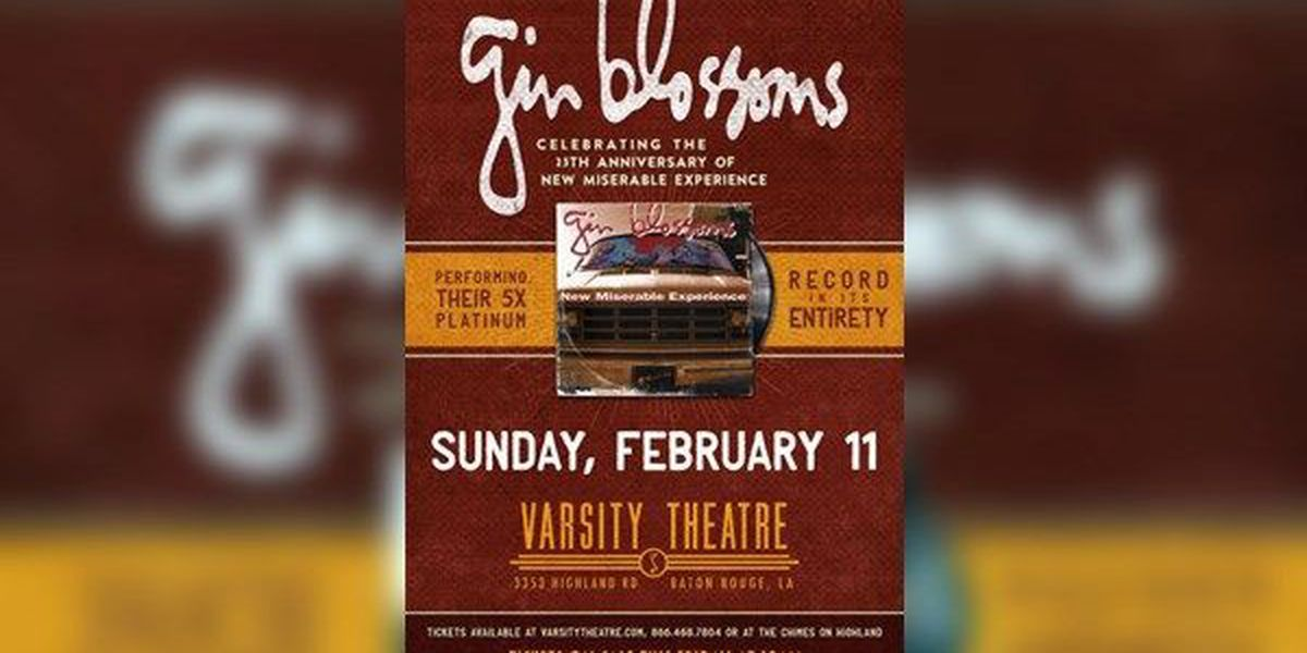 Gin Blossoms to headline Red Rock and Blue charity concert at Varsity Theatre