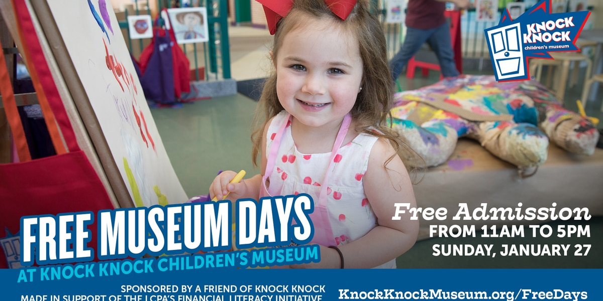 Free admission day, financial literacy events coming to Knock Knock Children's Museum