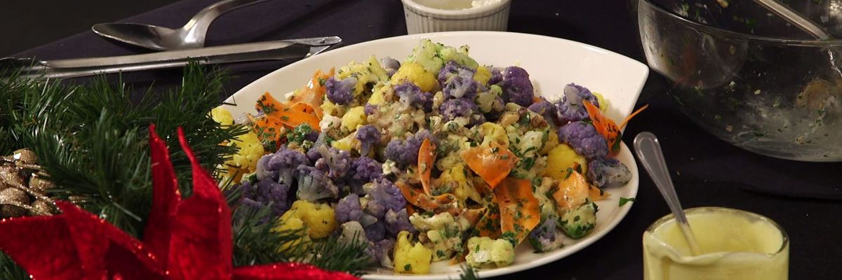 Carrot and Tri-Colored Cauliflower Salad