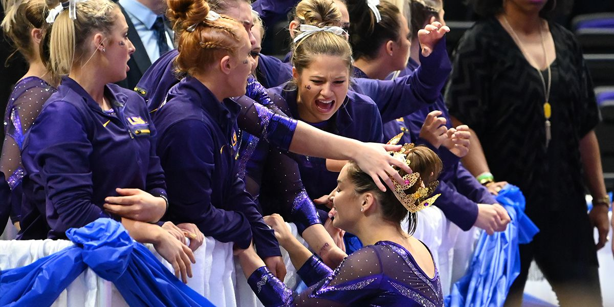 No. 3 LSU gymnastics advances to Sweet 16