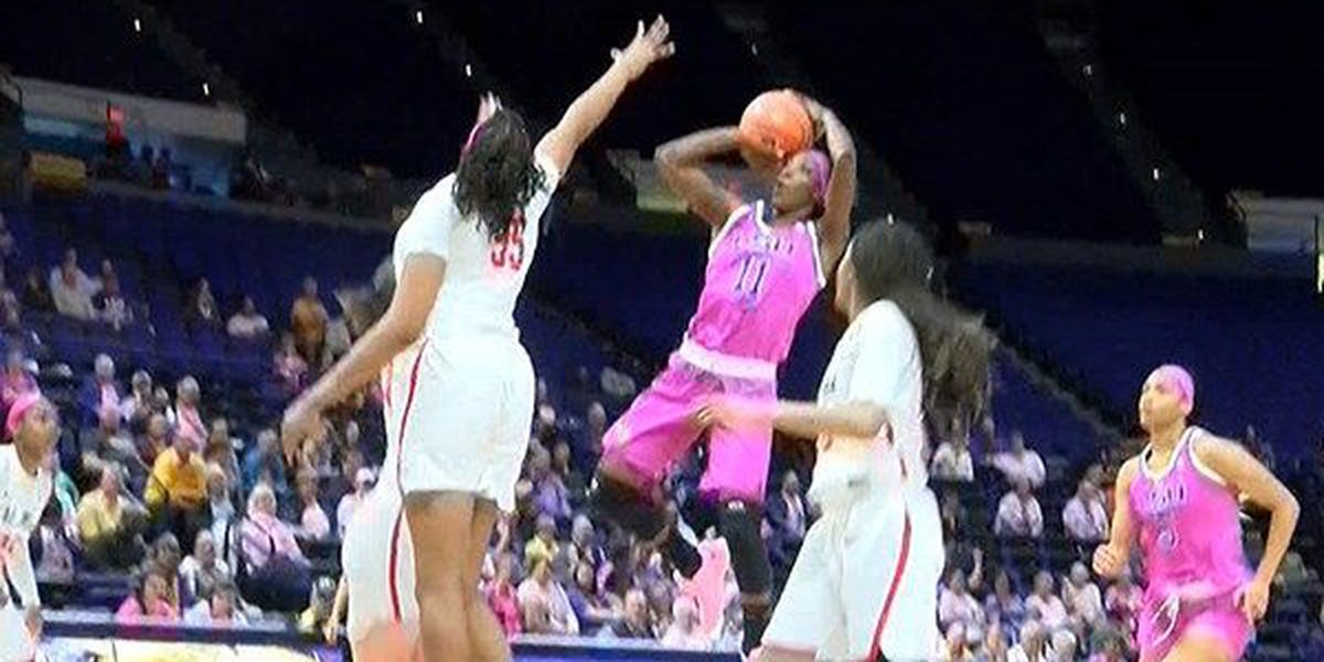 Raigyne Louis leads LSU to 84-55 win over Ole Miss in Play4Kay game