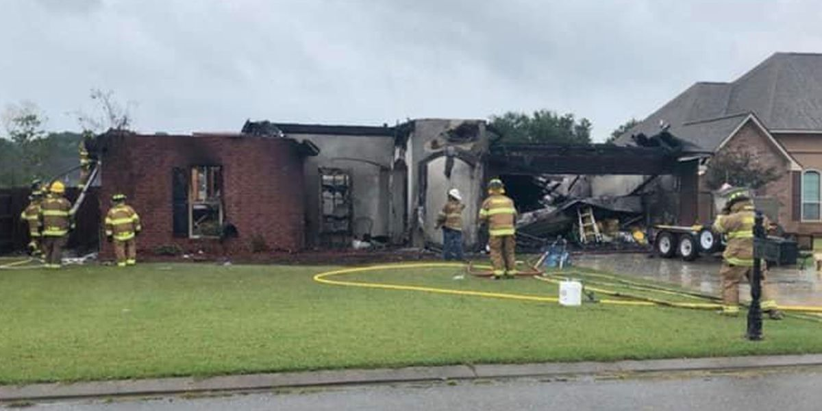 Family displaced after fire destroys home in Ascension Parish