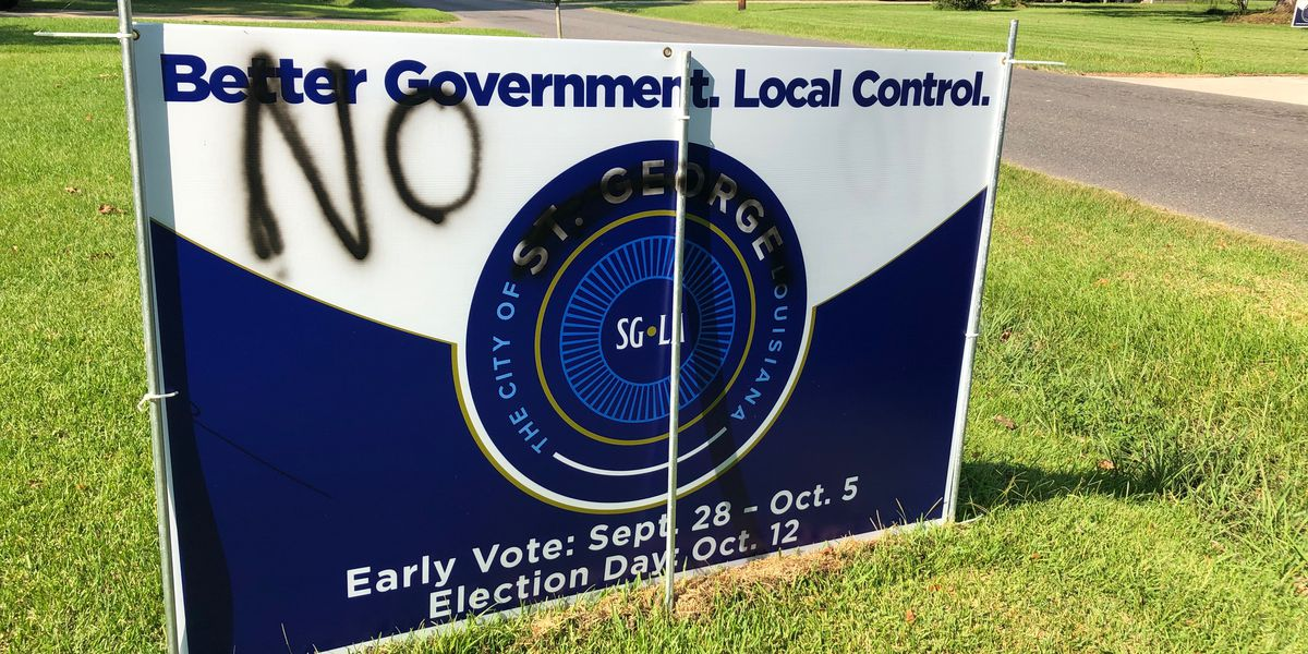 Mayor responds after St. George signs found vandalized; organizers say 'vandalism is a voter intimidation tactic as old as time'