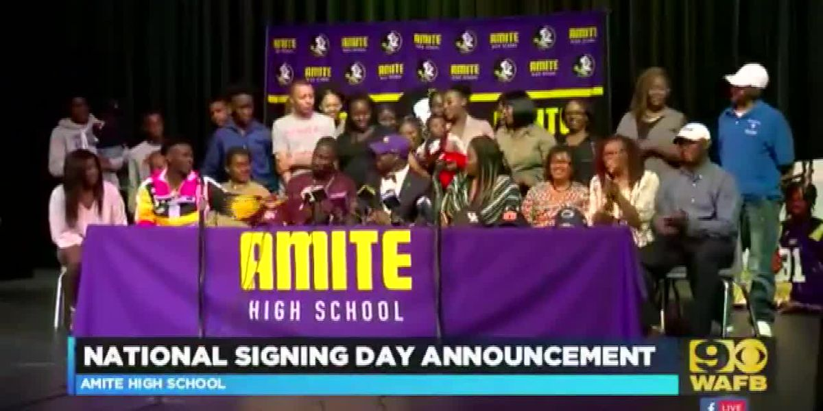 NATIONAL SIGNING DAY: Amite High players Devonta Lee and Ishmael Sopsher