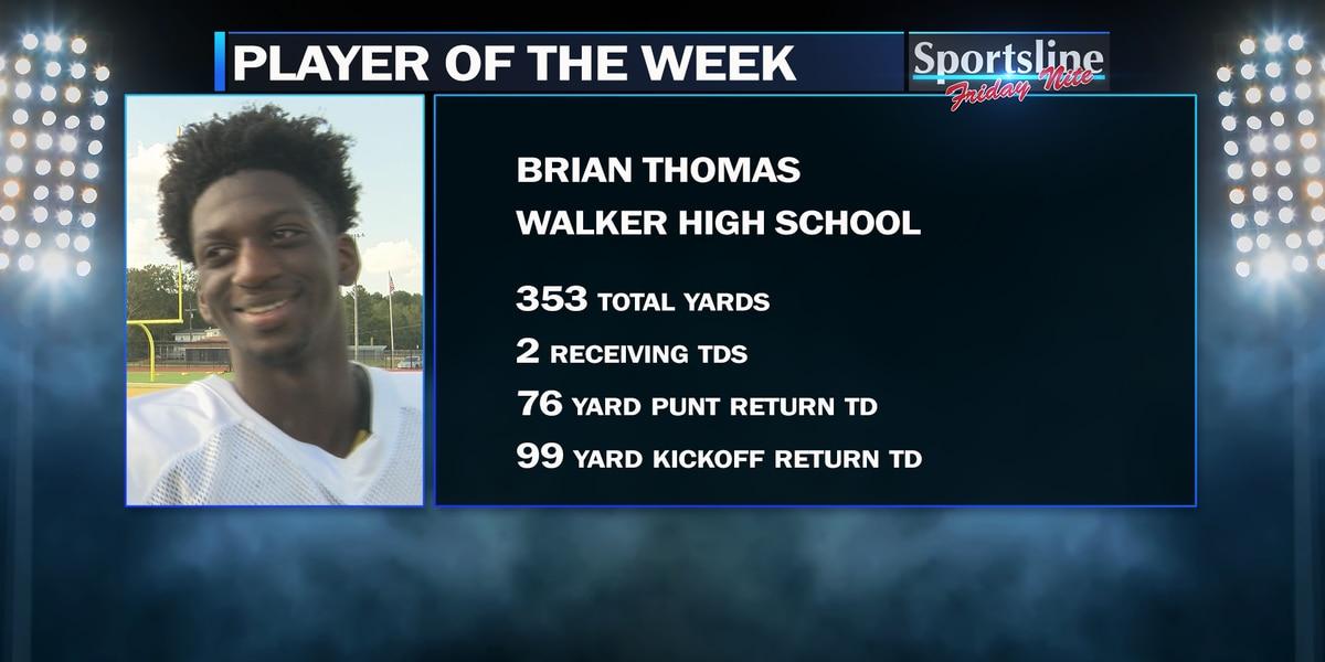 Sportsline Players of the Week: Walker WR Brian Thomas and Mentorship Defense (Week 3)