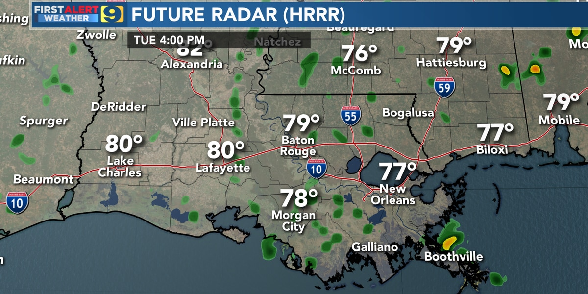 FIRST ALERT FORECAST: Warm, humid weather continues into Wednesday