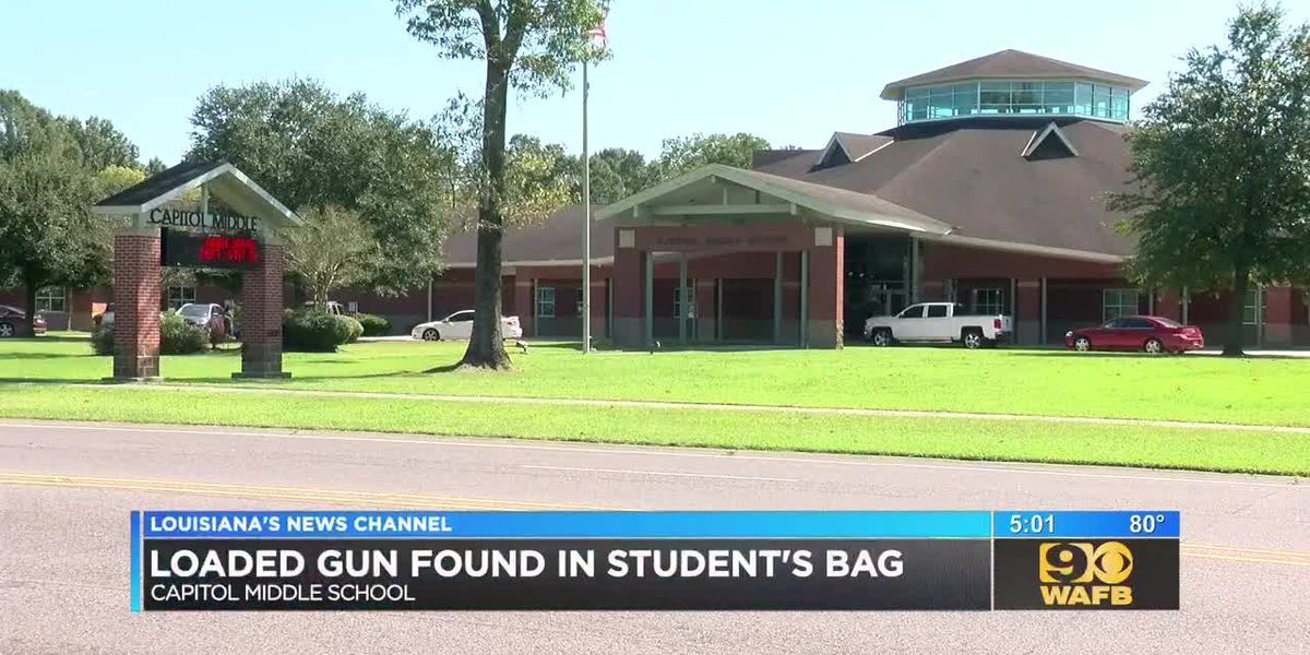 Loaded gun found in student's bag
