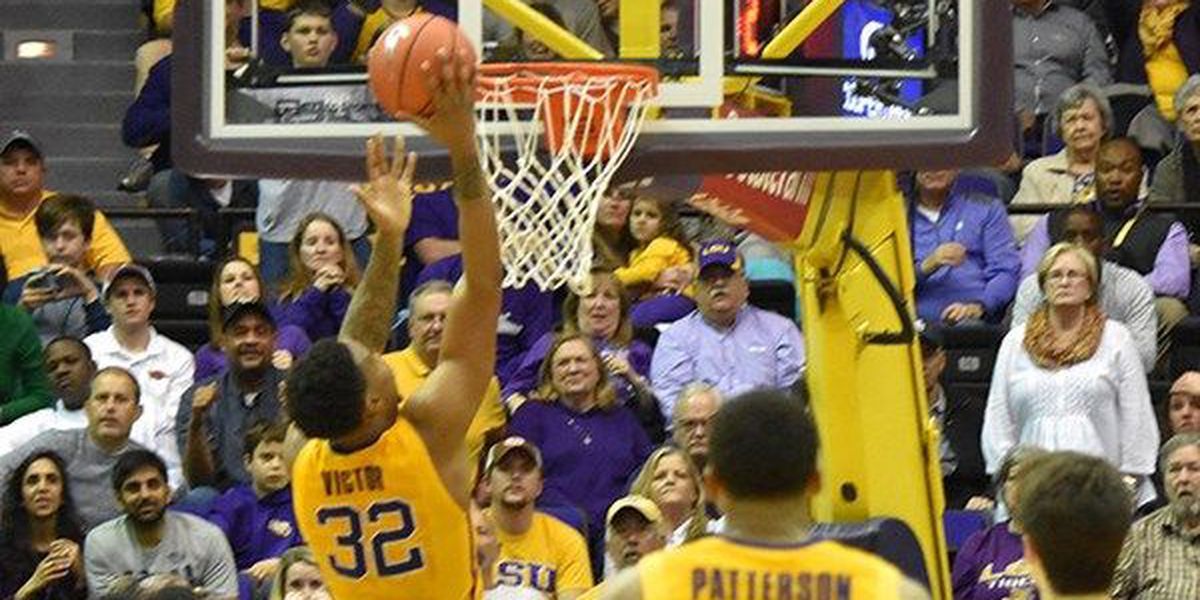 Victor put-back lifts LSU past Hogs