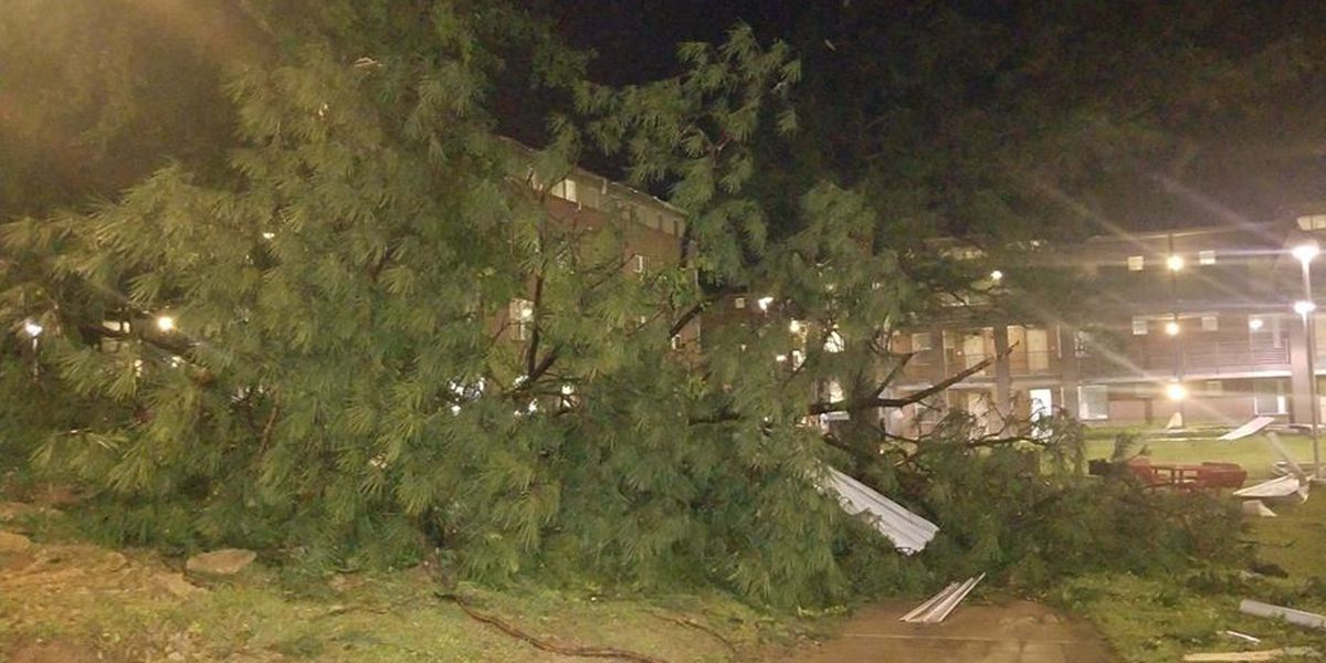 SLIDESHOW: Photos of storm damage following possible tornado