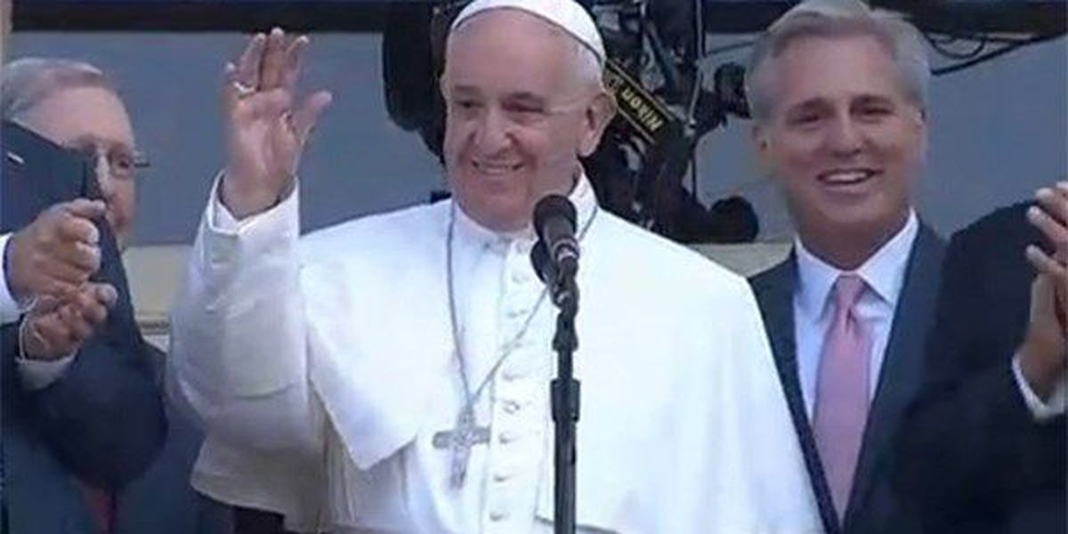 Pope Francis arrives in NY