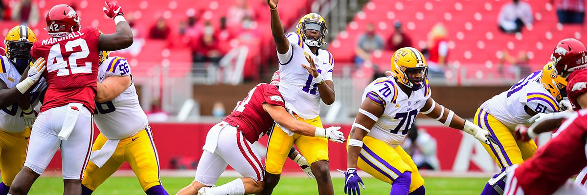 LSU outlasts Arkansas, 27-24
