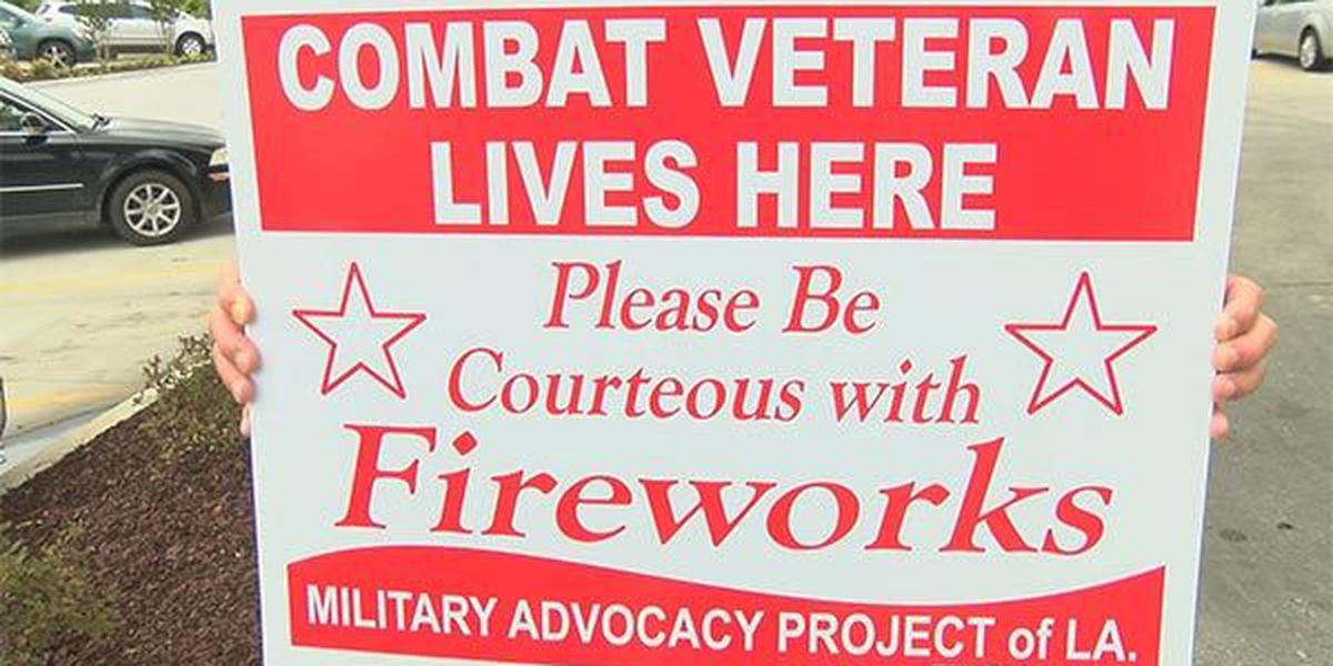 Veterans ask public for courtesy with fireworks