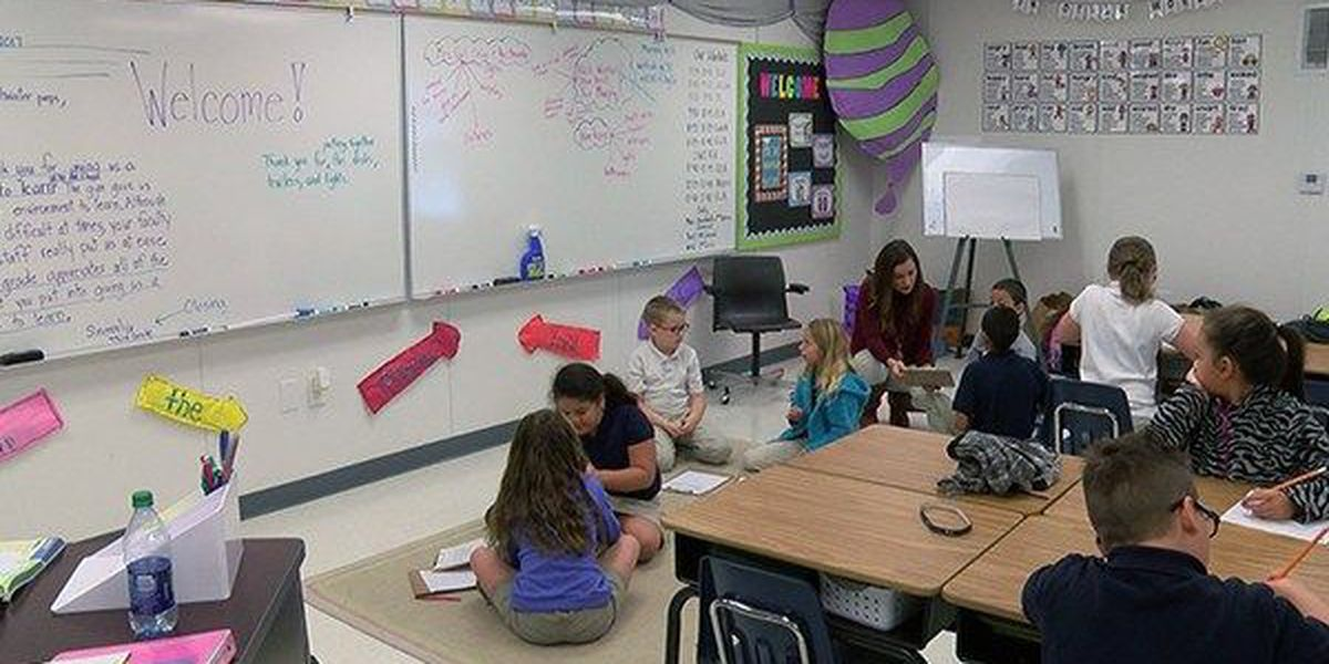 Denham Springs Elementary students have first day of school... again