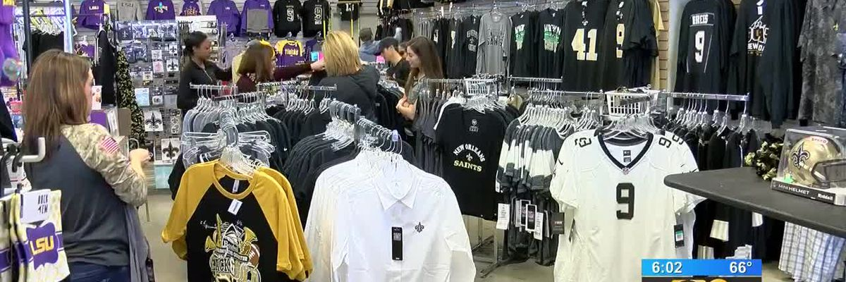 Residents in Baton Rouge get excited ahead of Saints vs. Rams playoff game