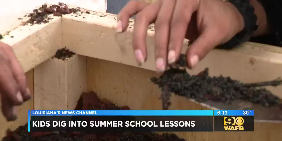 Visually impaired students learn about archeology with mock dig at summer camp