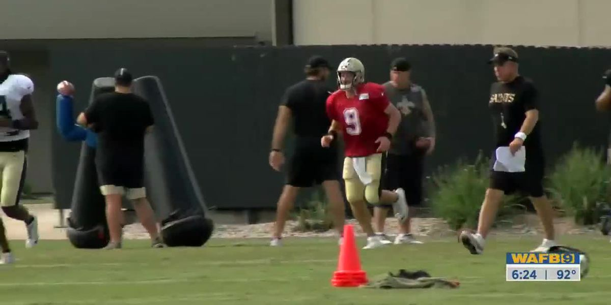 Saints put on pads for first time