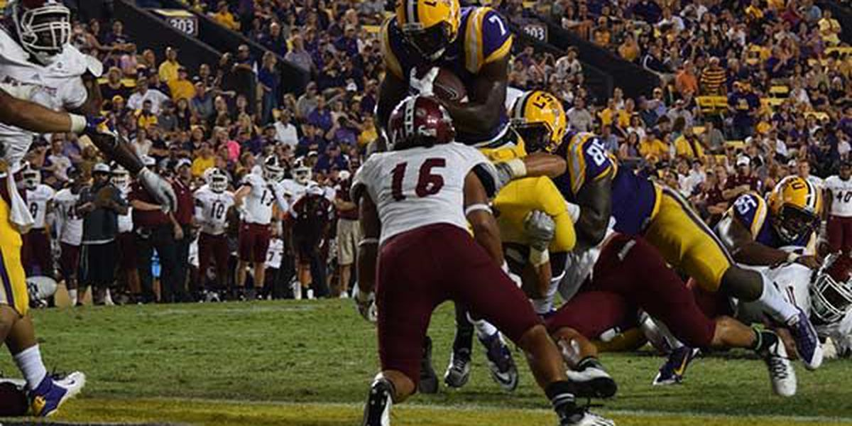 LSU cruises past New Mexico St. 63-7