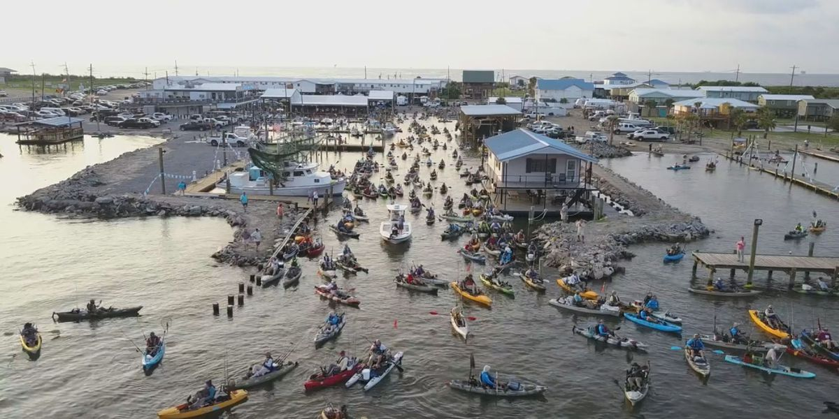 Hundreds compete in world's largest kayak fishing tournament