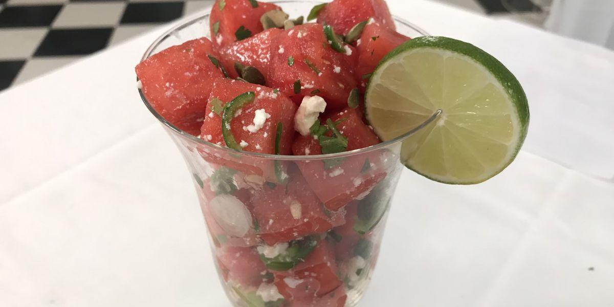 Watermelon Salad with Feta and Serrano Chiles
