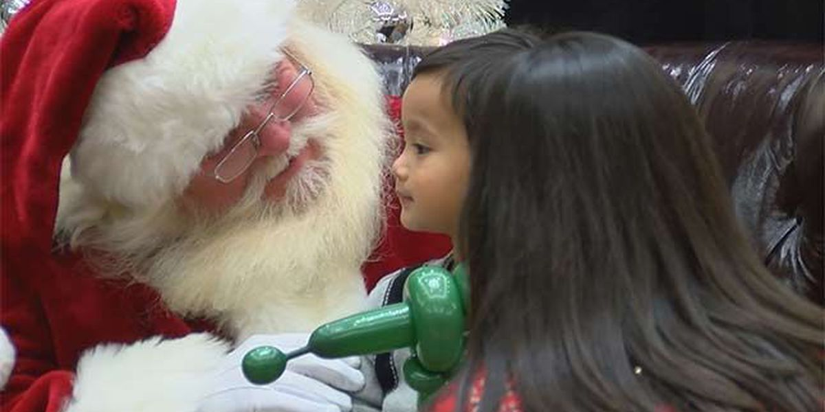 Santa brightens up kids' day at Baton Rouge General event