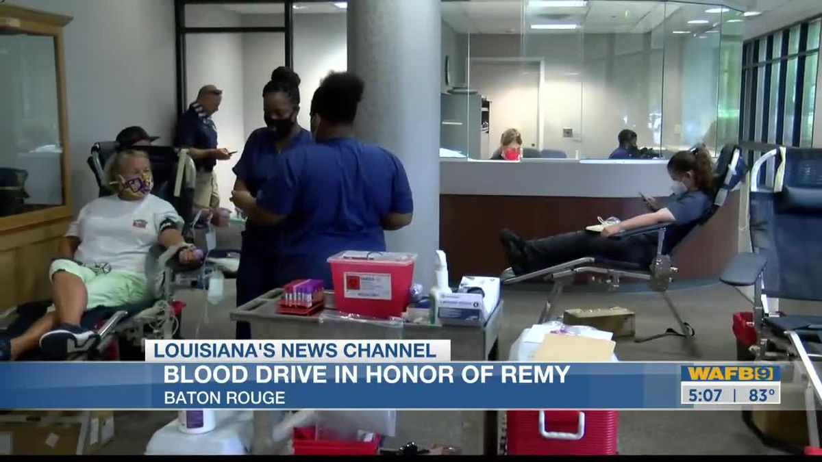 Blood drive to honor Remy Hidalgo held at BRPD