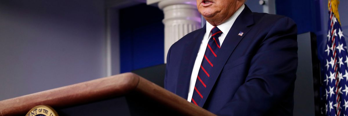 President Trump delivers his Tuesday briefing on the coronavirus