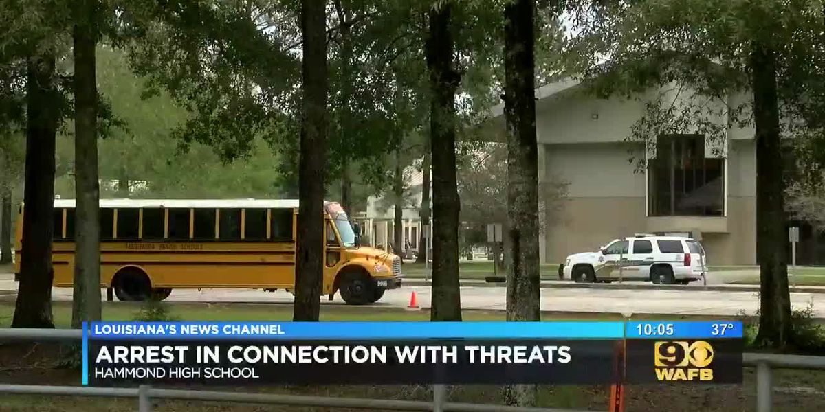 Arrest made in connection with threats made at Hammond High School