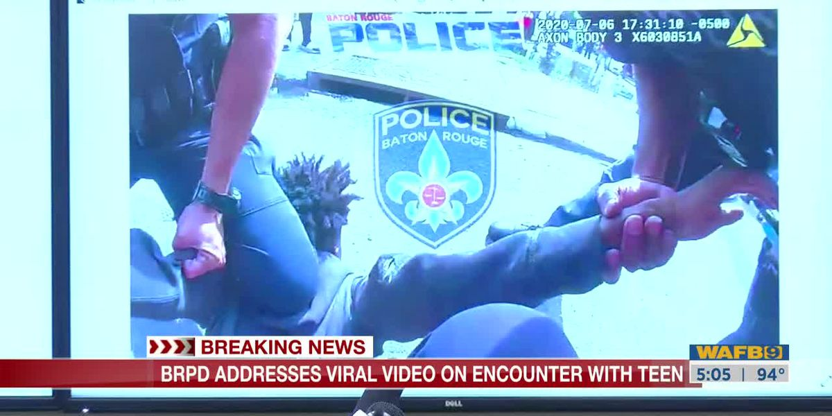 BRPD says they will soon release bodycam footage in which officer's knee was on juvenile's back, not kneck