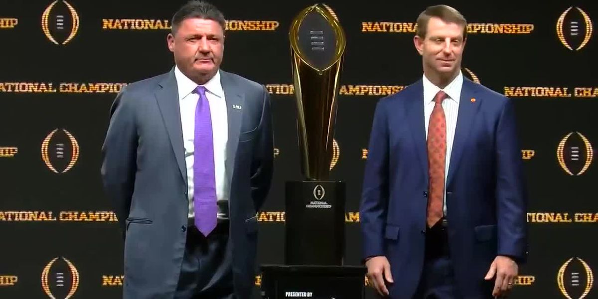 Head coaches talk for final time before CFP National Championship