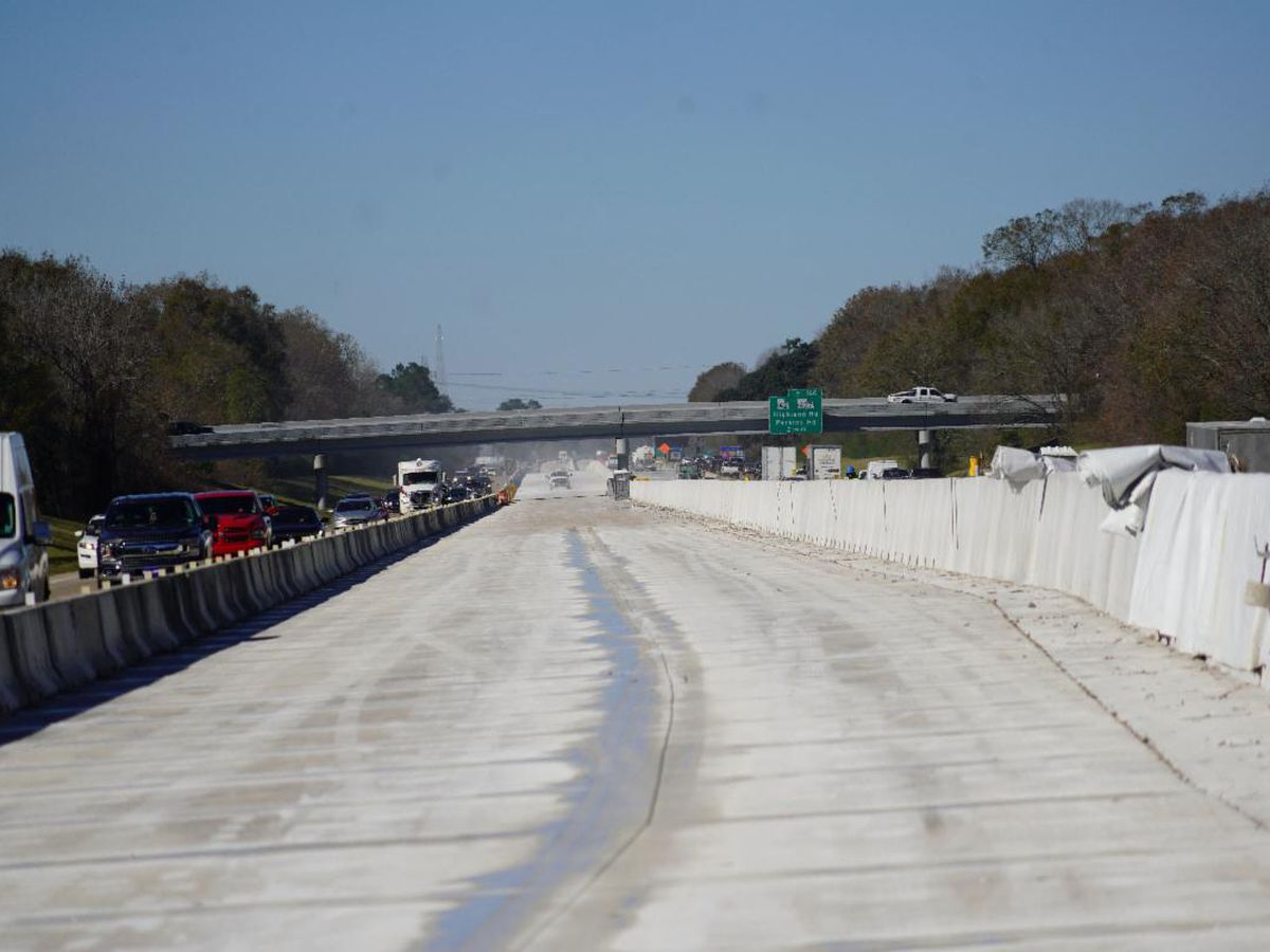 I-10 widening project between Highland Road and LA 73 nearing completion