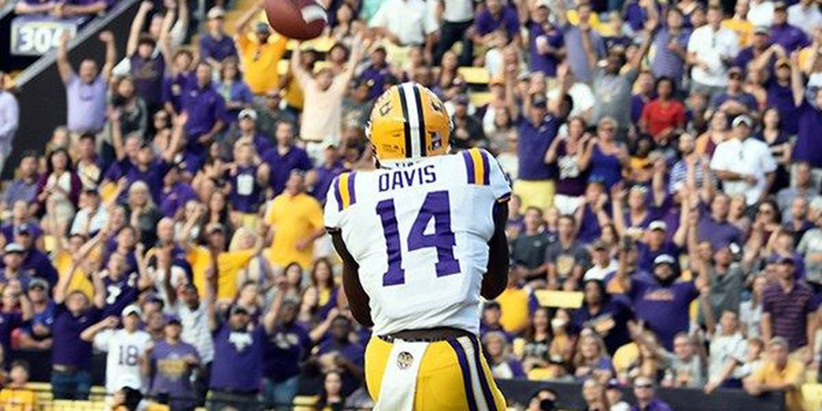 LSU just outside the top 10 in the latest college football polls
