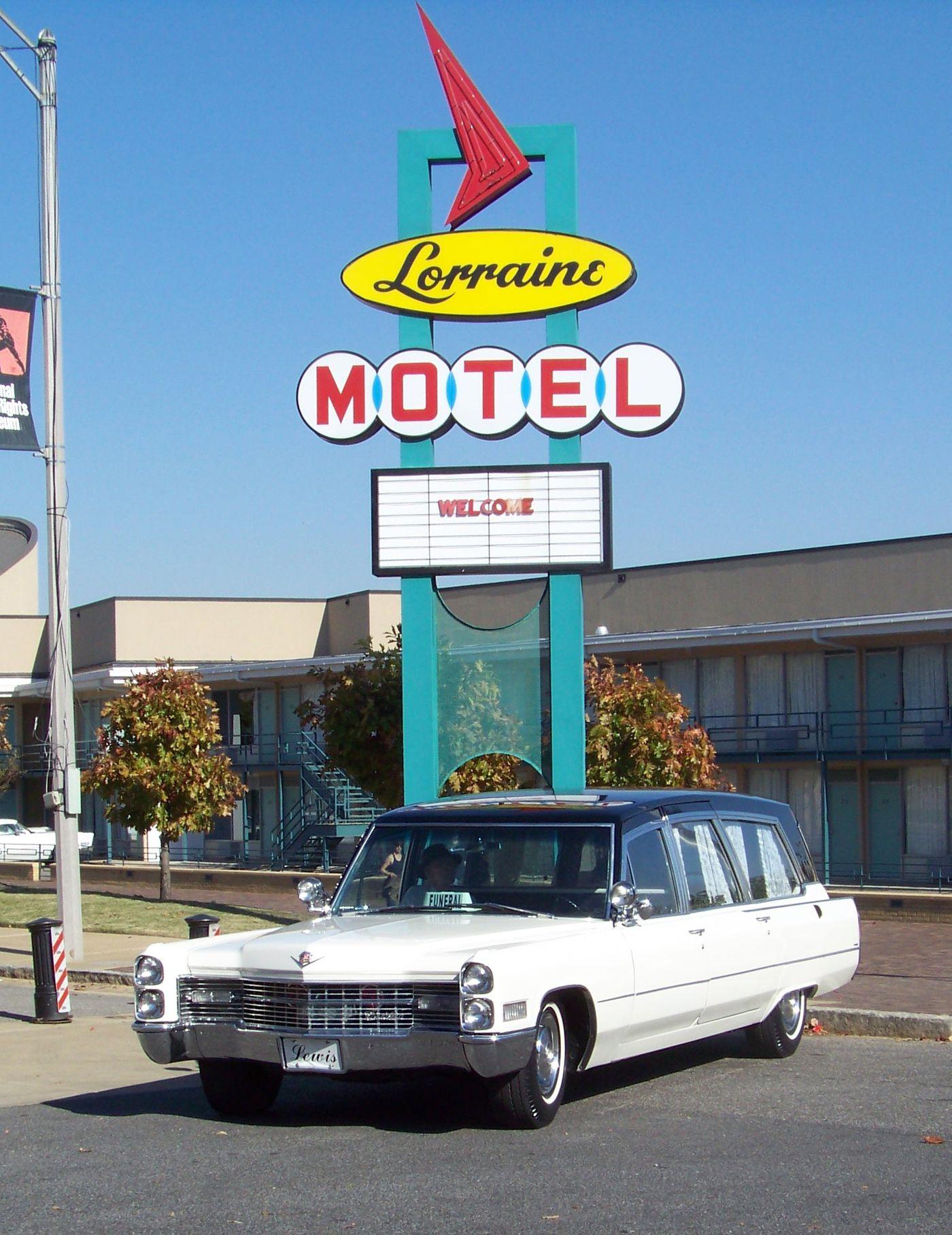 Hearse at Lorraine Motel