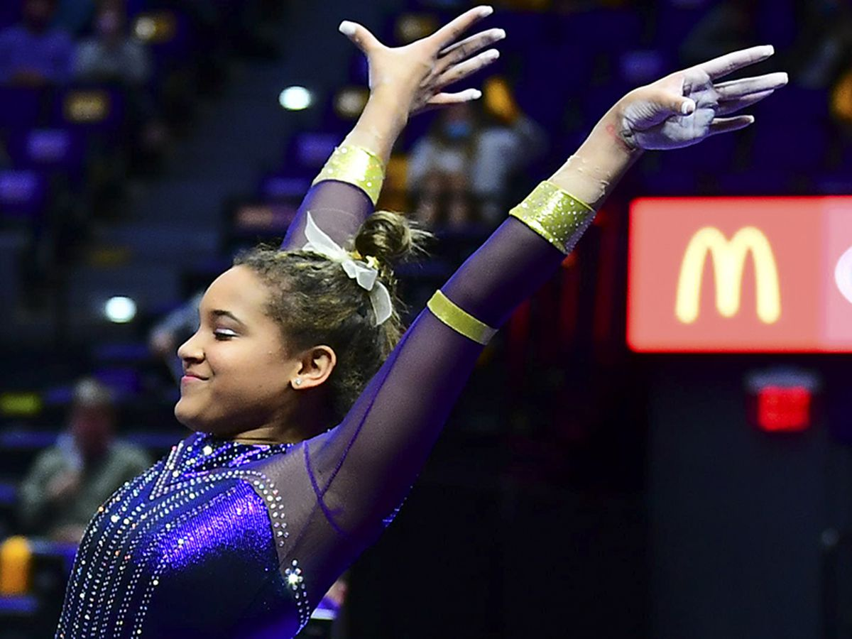 Bryant wins second-straight all-around, as No. 5 LSU tops No. 11 Georgia
