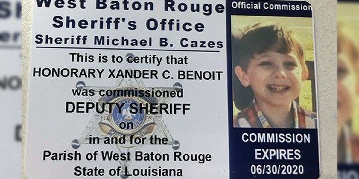 WBR Sheriff makes 5-year-old boy killed in wreck an honorary deputy